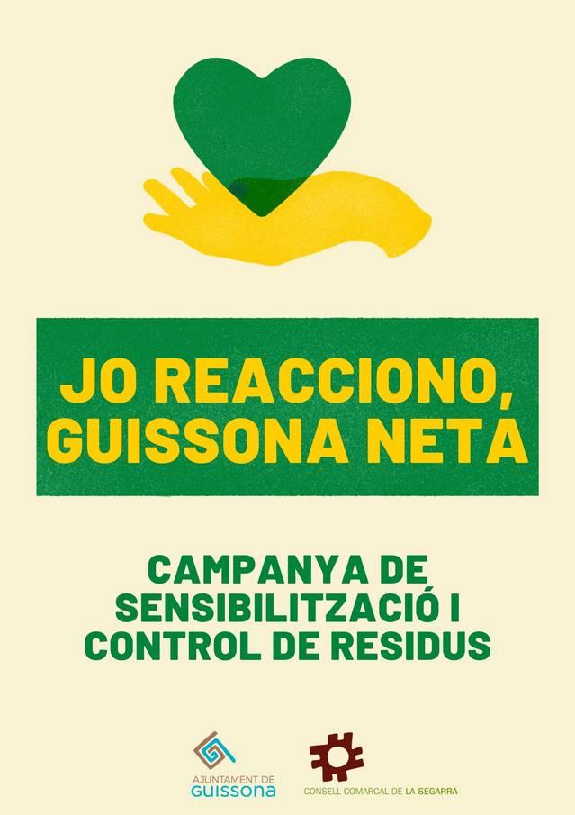 'Jo reacciono, Guissona neta', la campanya per establir un procés de control de residus