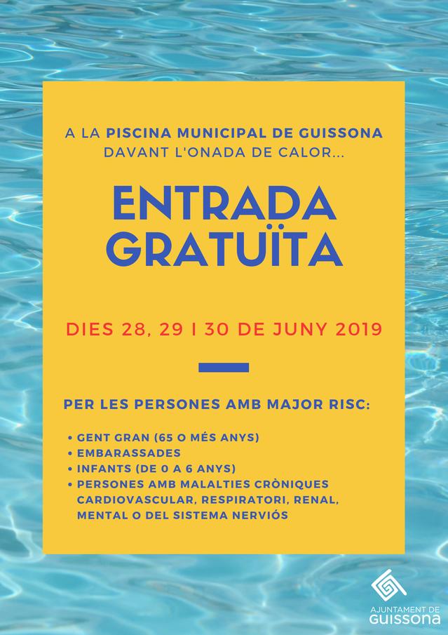 Guissona obre les piscines municipals de franc, aquest cap de setmana, per ajudar la població a combatre l'onada de calor