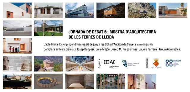 Jornada de debat de la 5a Mostra d'Arquitectura de les Terres de Lleida a Cervera