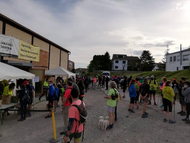 La 7a Caminada de la Marinada supera amb èxit la prova de la pandèmia amb 600 participants
