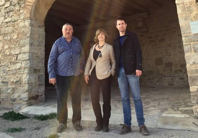 La consellera Borràs visita Montfalcó Murallat
