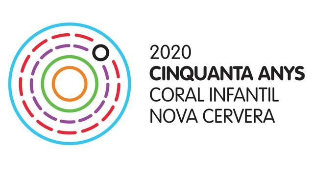 La coral infantil nova cervera presenta el logotip de la celebració dels seus 50 anys d'existència
