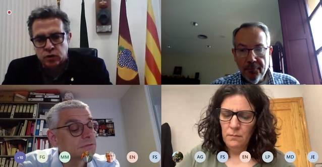 La Diputació es reuneix amb el Consell Comarcal de la Segarra per explicar el pla de xoc contra la Covid-19