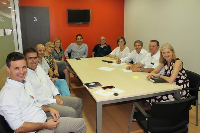 La directora general d'Indústria, Matilde Vilarroya, visita Cervera