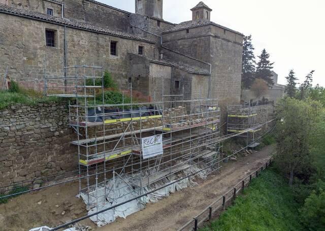La muralla de Torà enfonsada el 2018 estarà restaurada al juny