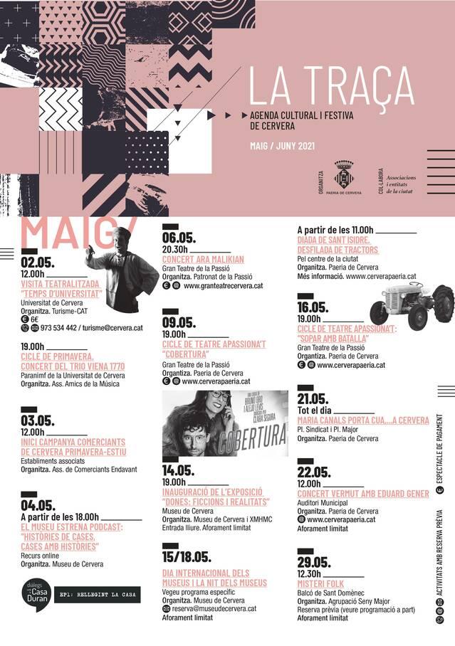 """La Paeria publica """"La Traça"""", un recull d'activitats culturals i festives a Cervera"""