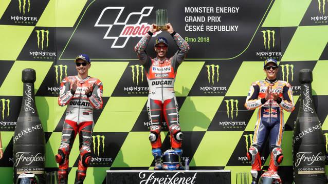 Márquez queda tercer al Gran Premi de Moto GP de la República Txeca