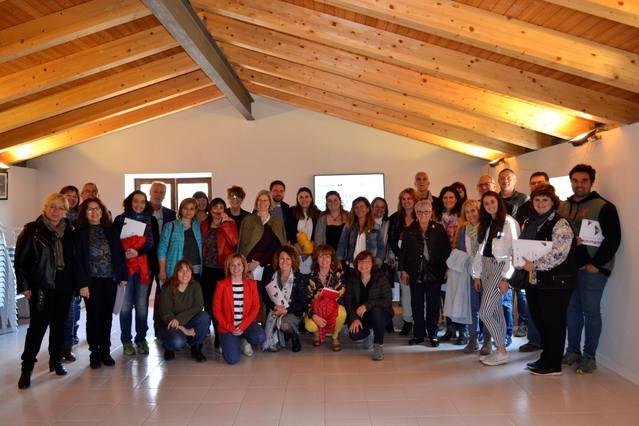 Més d'una trentena d'assistents van treballar a l'Ametlla de Segarra (Montoliu) com potenciar la marca personal  en l'emprenedoria al món rural.