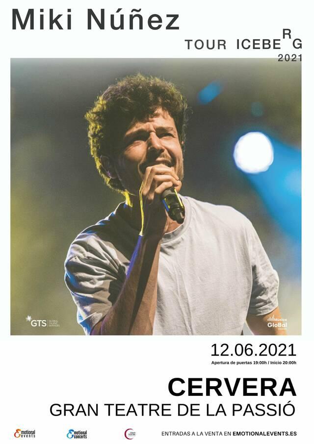 Miki Núñez ajorna el seu concert de Cervera del 12 de juny al 27 de novembre