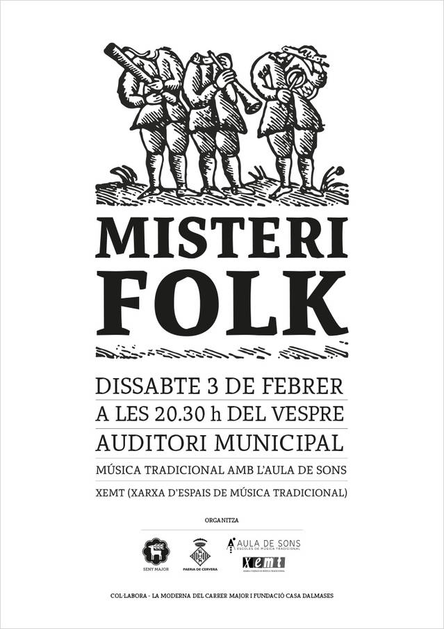 Misteri Folk, torna a Cervera dissabte 3 de febrer