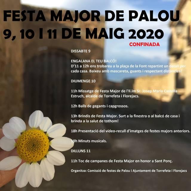 Palou proposa un programa d'actes per celebrar una edició 'confinada' de la Festa Major