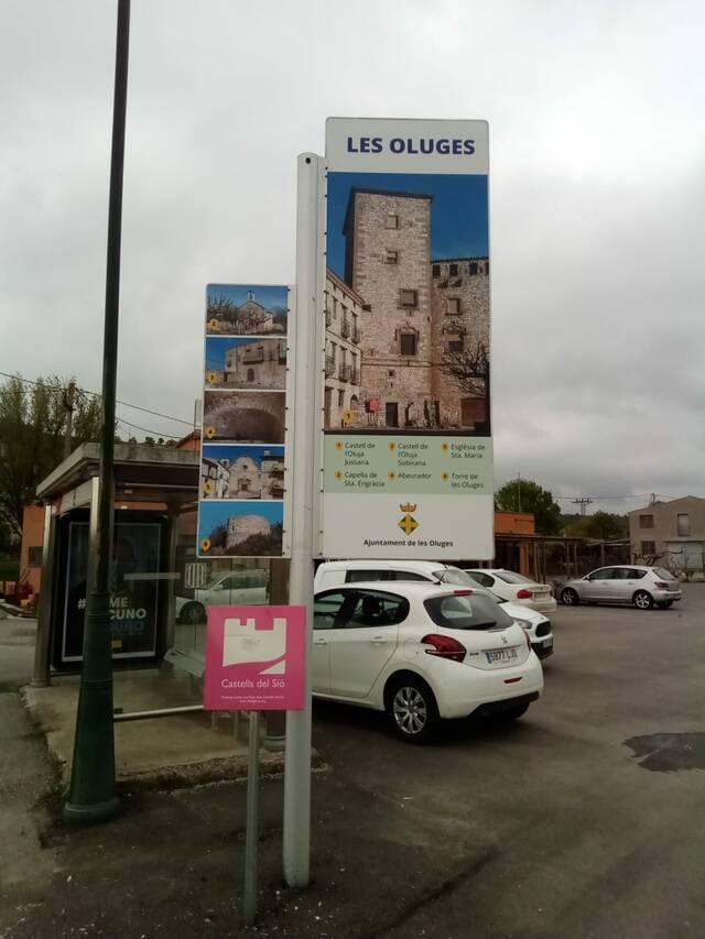 Panells informatius a les Oluges per impulsar el turisme