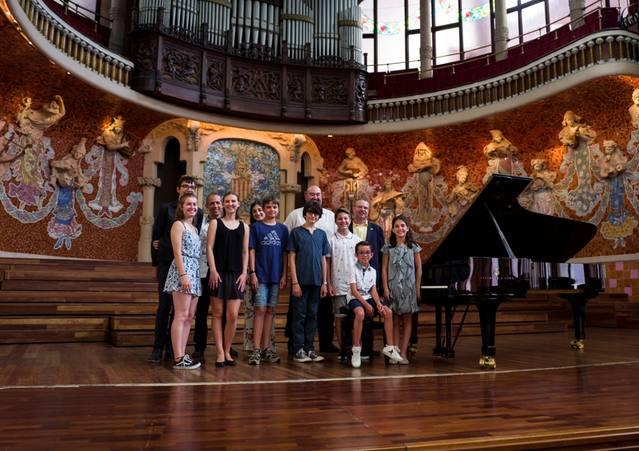Pianistes cerverins toquen al Palau de la Música Catalana