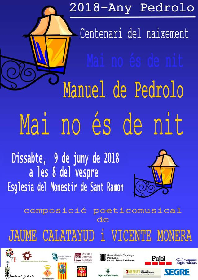 Recital poètic musical a l'església del monestir de Sant Ramon