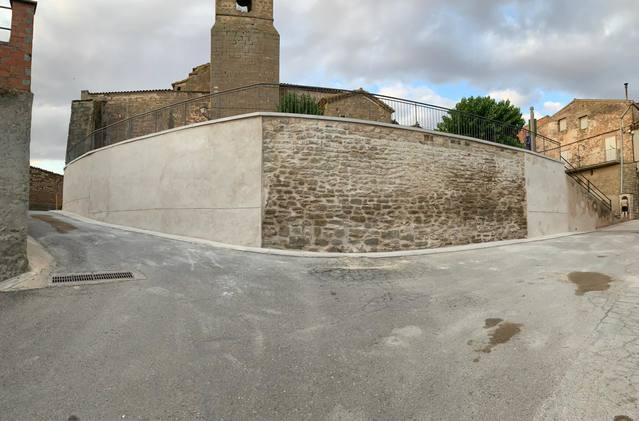 Sedó estrena mur i plaça de l'església