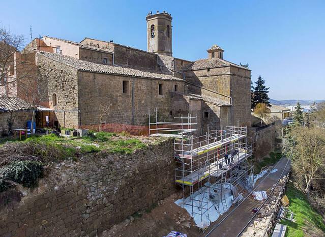 Torà recupera un tram de la muralla enfonsat el 2018