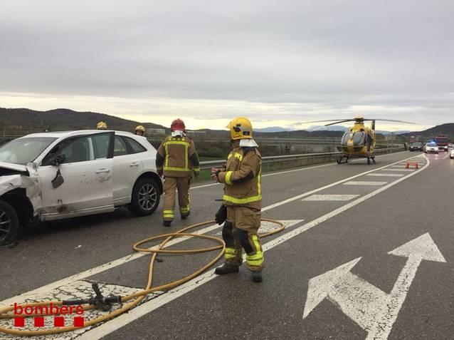 Un mort i dos ferits en un accident a Torà