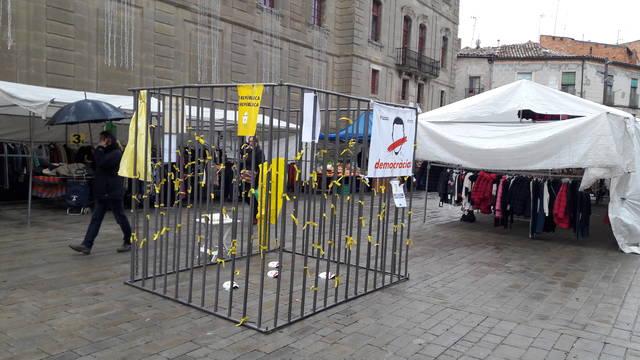 Una presó a Cervera en suport als presos polítics