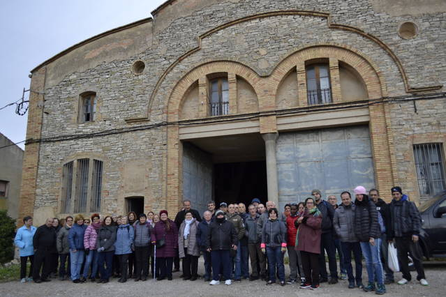 Visita a Sant Guim de Freixenet dels usuaris del Punt Òmnia