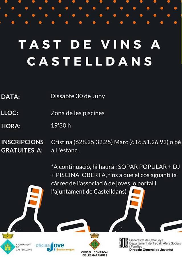 Castelldans organitza aquest dissabte un tast de vins