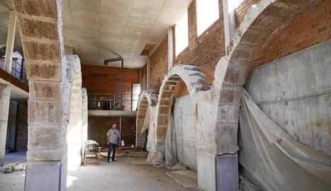 Castelldans reclama a la Generalitat que obri la planta baixa de l'edifici que havia d'acollir el centre interpretatiu de Mas de Melons