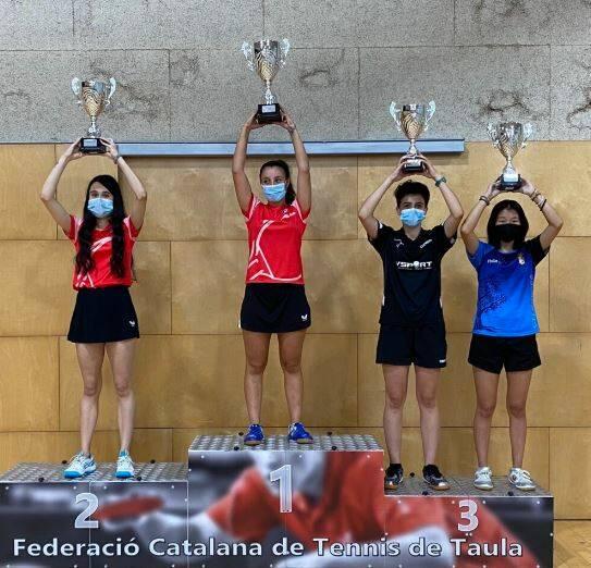 Chenxin Tang, 3a classificada en el campionat de Catalunya de tenis taula per comarques