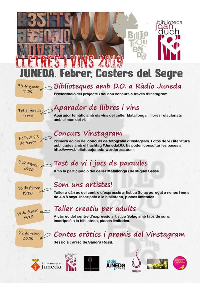 """Cinquè any de """"Biblioteques amb DO"""" a Juneda"""