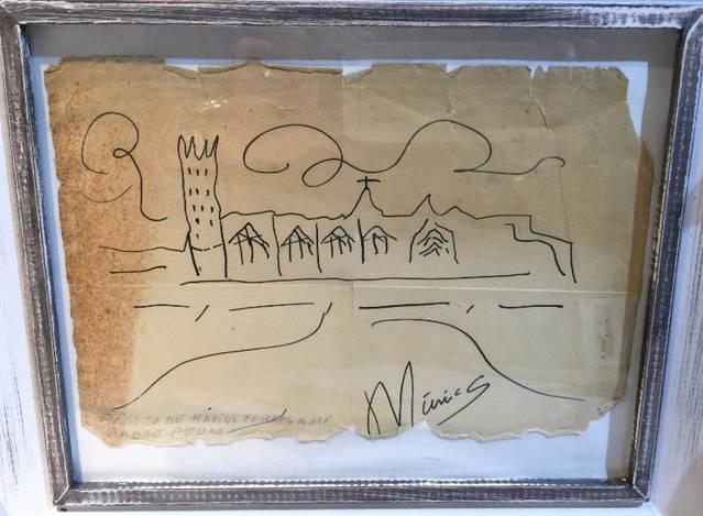 Descobreixen un dibuix original de Màrius Torres a l'Espai Macià de les Borges