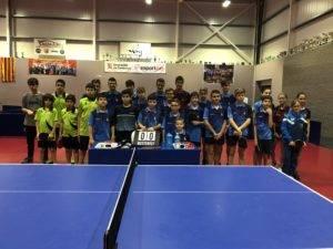 Dos equips del CTT Borges participaran al Campionat de Catalunya de Joves