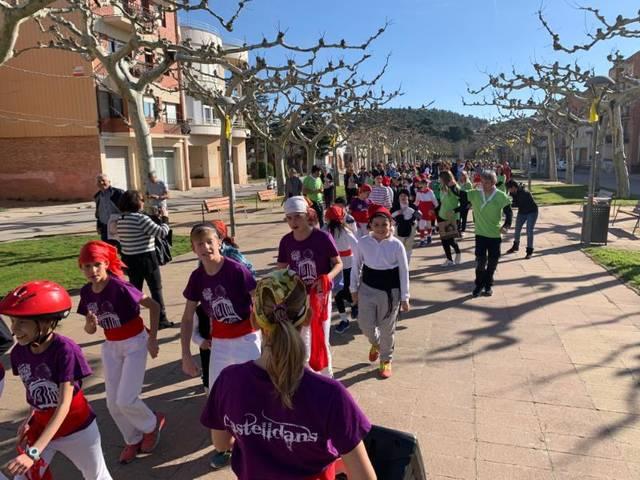 Els més petits de Castelldans celebren el Carnestoltes