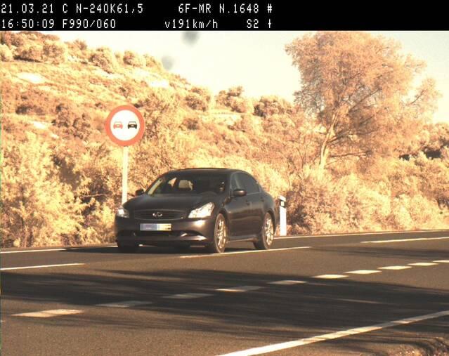 Els Mossos d'Esquadra denuncien un conductor que circulava a 191 km/h per la N-240 a les Garrigues