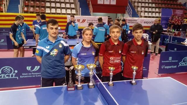 Joan Masip, Campió de Catalunya en individual i dobles sub-21