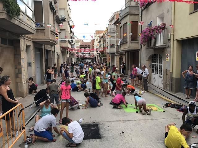 Juneda celebra la 33ª edició del concurs de dibuix mural a terra