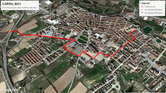 Les Borges adjudica la realització del carril bici que ha d'unir els centres educatius