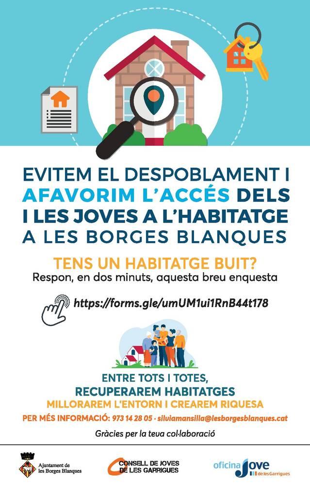 Les Borges Blanques elabora un cens d'habitatges buits
