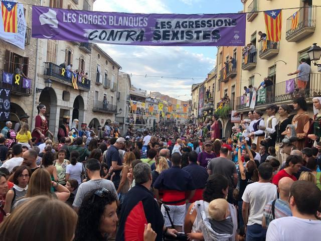 Més de 6.000 persones assisteixen a la 37a Trobada de Gegants, Grallers i Correfocs de les Borges Blanques