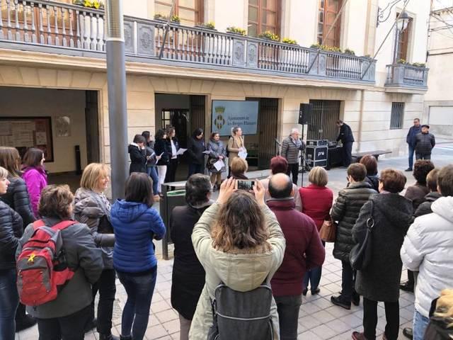 Regidores i treballadores municipals de les Borges, protagonistes del dia internacional per a l'eliminació de la violència contra les dones