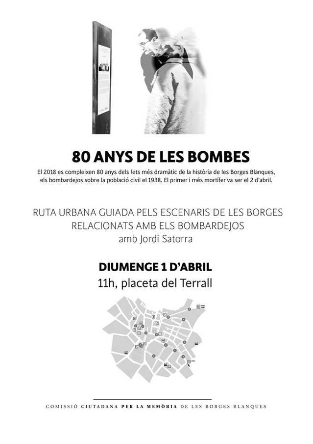 Ruta guiada per recordar el bombardeig a les Borges del 2 d'abril