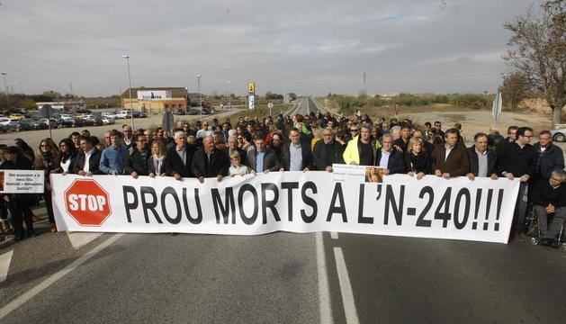 Segon tall de la via N-240 en un mes per exigir la millora de la seguretat
