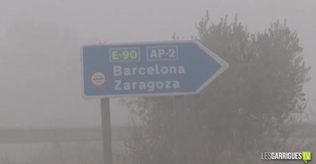 Tallada l'AP-2 entre les Borges Blanques i Lleida per boira intensa