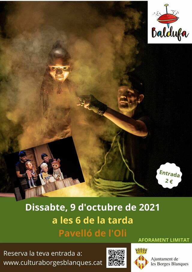 Torna el Cicle Baldufa a les Borges amb l'espectacle de titelles 'La llàntia meravellosa'