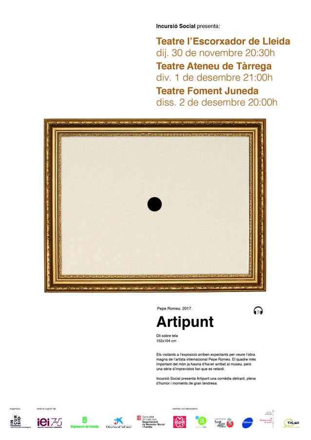 """Torna InCursió Social amb la representació de l'obra """"Artipunt"""""""