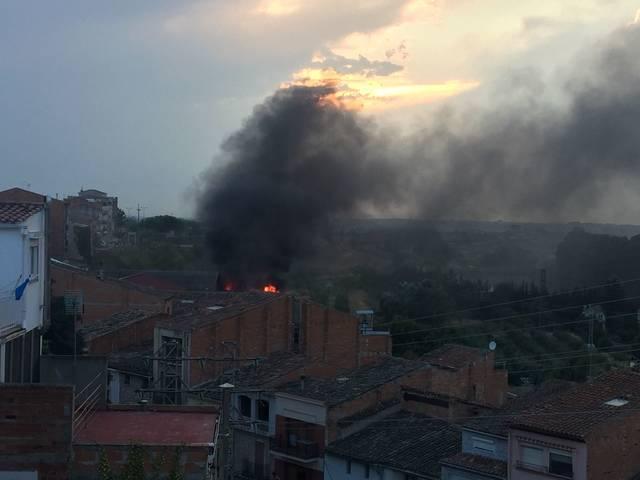 Un molí d'oli s'incendia a Les Borges Blanques