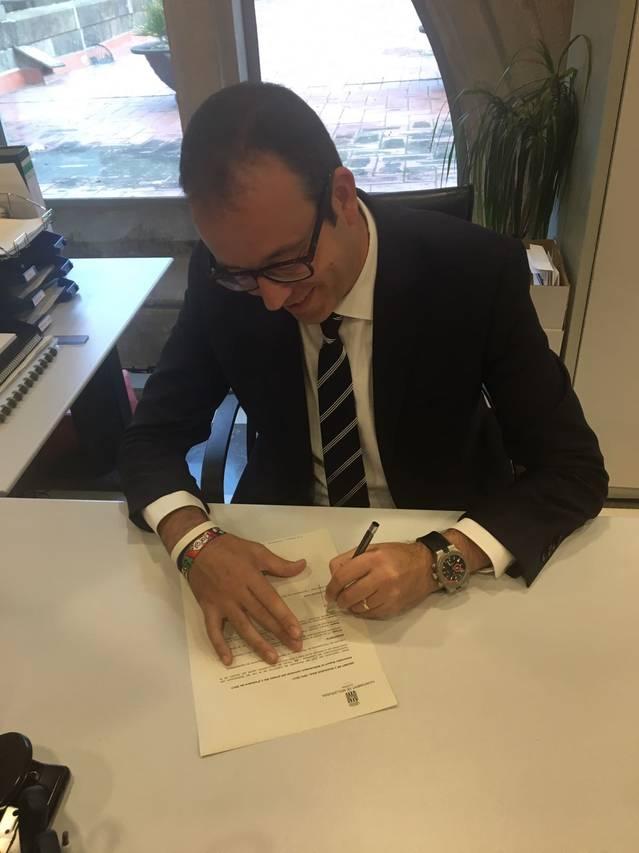 Alcaldes del Pla d'Urgell signen el Decret de Suport a la Llei del Referèndum