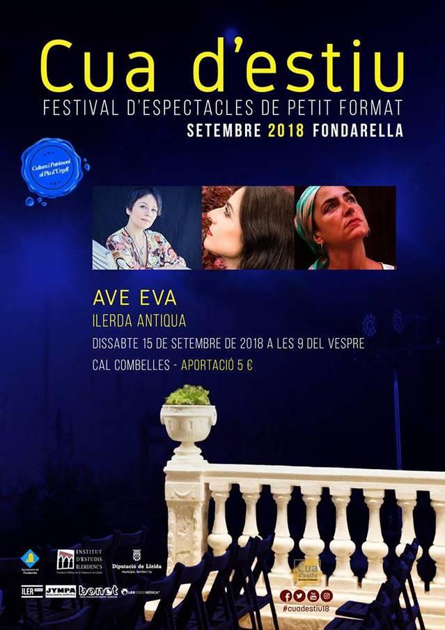 'Ave Eva', una combinació de música barroca i textos contemporanis, demà dissabte 15 de setembre a la Cua d'Estiu de Fondarella