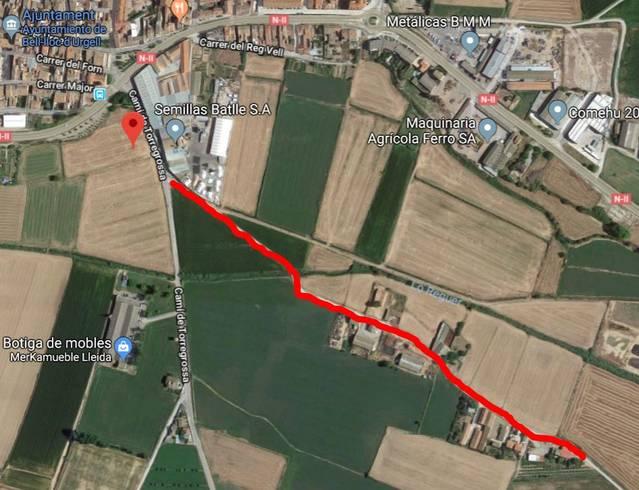 Bell-lloc licita les obres de pavimentació del camí de Pelagalls