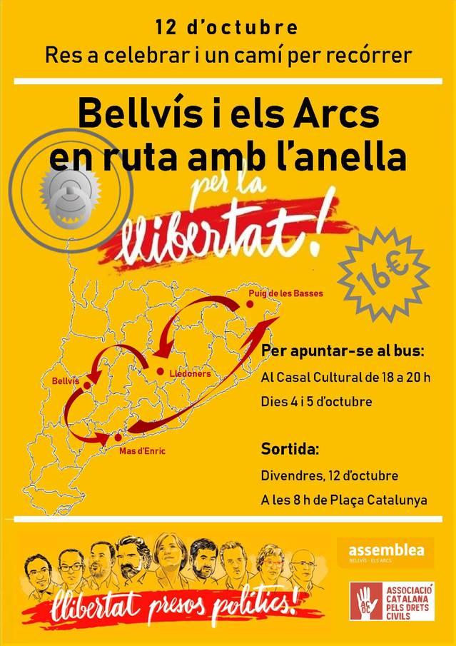 Bellvís portarà l'anella de cal Bufalà a les presons de Lledoners, Mas Enric i Puig de les Basses