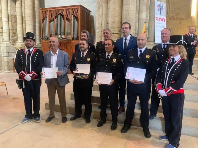 Cinc agents de la Policia Local de Mollerussa guardonats el Dia de les Esquadres