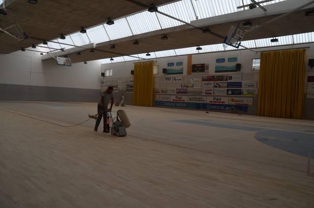 Comencen les obres al pavelló poliesportiu de Mollerussa