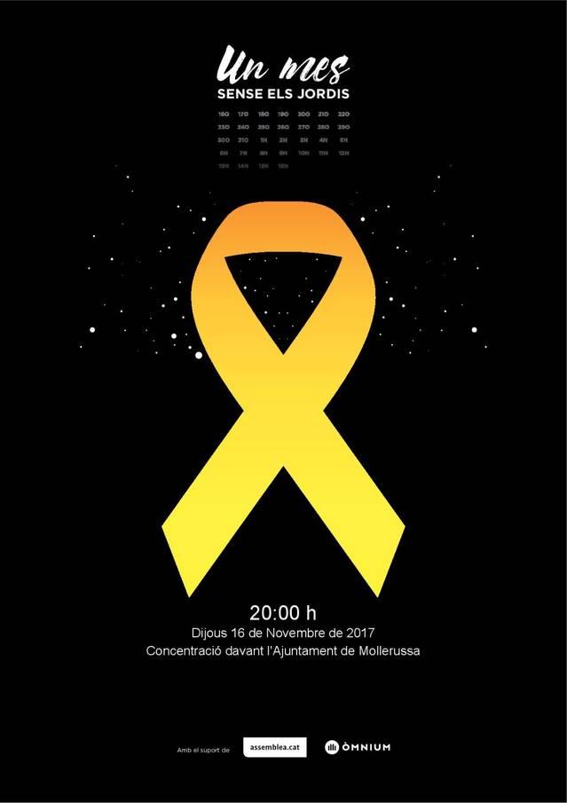 Convoquen concentracions per demanar la llibertat dels Jordis quan es compleix un mes de la seva entrada a presó